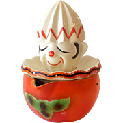 Vintage Ceramic Clown Citrus Juice Reamer Japan