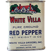 All Tin Vintage White Villa Spice Tin Nice Graphics