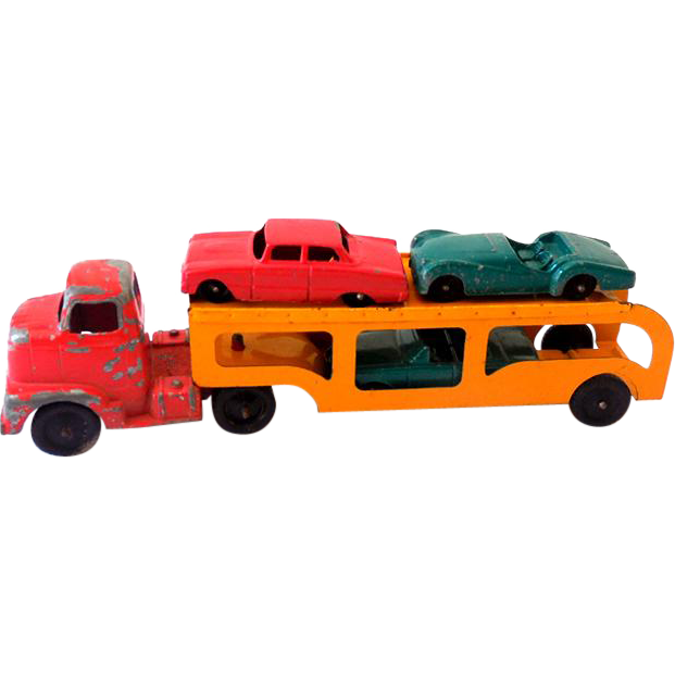 1940s Tootsietoy Car Transport Hauler Truck