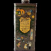 Vintage Rawleigh's Good Health Talcum Powder Baby Powder Tin Nursery Rhymes