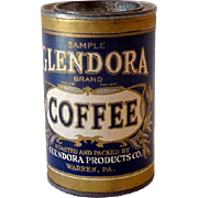 1920s Glendora Coffee Sample Tin *NICE*