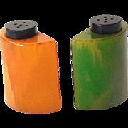 Vintage 1930s Bakelite Salt & Pepper Shakers
