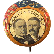 McKinley & Theodore Roosevelt  Presidential Campaign Button