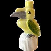 Miniature Figural Sitzendorf Parrot Perfume Bottle