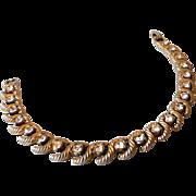 Vintage Bracelet Large Rhinestones in Snake Link Setting