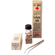 Red Cross Toothache Drops Outfit In Original Box