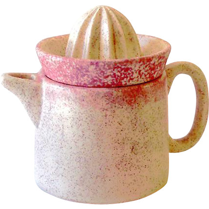 Pink Pottery Citrus Orange Juice Reamer