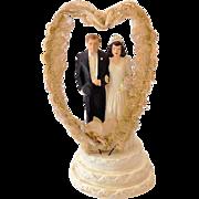 1947 Coast Novelty Chalk Wedding Cake Top Bride and Groom