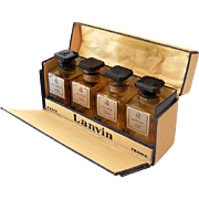 Boxed Set Lanvin Paris 4 Empty Miniature Perfume Parfume Bottles