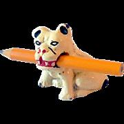 Vintage Cast Iron Hubley Bulldog Pencil Holder Paperweight