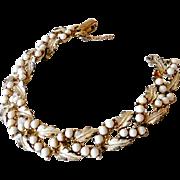 Vintage Signed Coro Bracelet 7 Inch