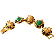 Gorgeous Selro Selini Bracelet Asian Faces and Green C
