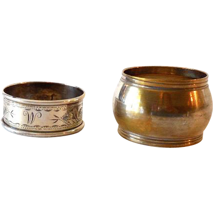(2) Unmarked Silver Plated Victorian Napkin Rings