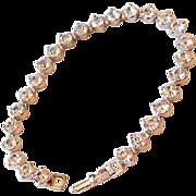 Rhinestones Tennis Bracelet Large Stones