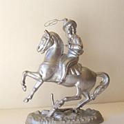 Antique Buffalo Bill Wild West Show Pot Metal Souvenir
