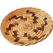 Vintage Hand Woven Papago American Indian Basket