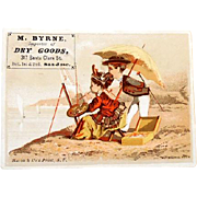 Victorian Era Trade Card Dry Goods San Jose California