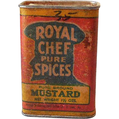 "Hard to Find ""Royal Chef Pure Spices"" Spice Tin"
