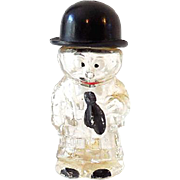 Figural Perfume Bottle Cross Eyed Man Germany