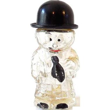 Figural Perfume Bottle Cross Eyed Man Germany