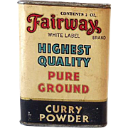 Vintage Spice Tin Fairway Curry Powder