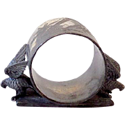 Figural Meriden Silver Plated Napkin Ring Double Eagles