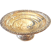 Vintage Wallace Sterling Silver Candy or Nut Pedestal Bowl