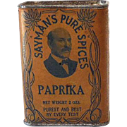 Vintage Sayman's Paprika Spice Tin Great Label