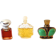 (3) Vintage Miniature Perfume Bottles Wind Song Epris