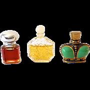 (3) Vintage Miniature Perfume Bottles Wind Song Epris