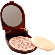 Vintage Coty French Flair Combination Powder Compact and Lipstick