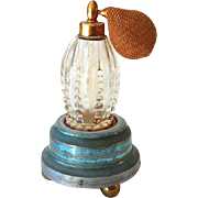 1930s Perfume Bottle with Atomizer Ball in Music Box Base