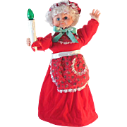 1970s Rennoc Animation Mrs Santa Claus Electric Decoration 18 Inches