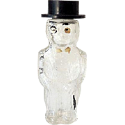 Vintage Figural Perfume Bottle Well Dressed Man in Top Hat