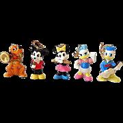 (5) Disney Character Ceramic Ornaments/Figurines Japan