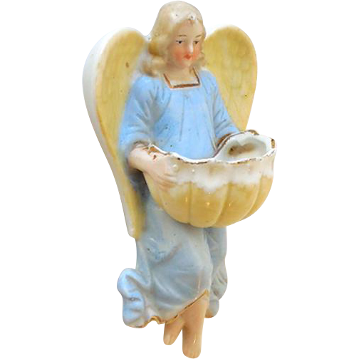 Lovely Porcelain Angel Holy Water Font