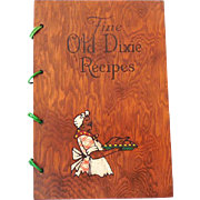 1939 Black Americana Southern Dixie Cookbook Wood Covers