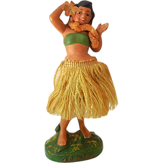 Unusual Vintage Hawaiian Hula Girl Nodder Bobber