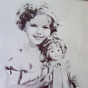HUGE Vintage Shirley Temple Framed Photograph
