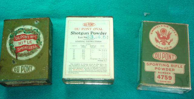 3 Vintage Shot Gun Powder Advertising Sports Tins