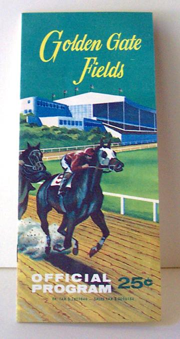 1963 Golden Gate Fields Race Track Program