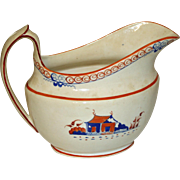 Antique Soft Paste Creamer with Enameling  c. 1820