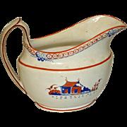 Antique Soft Paste Creamer with Enameling,  c. 1820