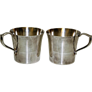 Pair Wallace Silver Plate Cups