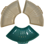 California USA Pottery Hors D'oeuvres Dish, Three of Them