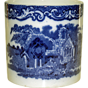 "19th Century Blue and White Beaker ""Abbey"" Pattern by G. Jones and Sons"