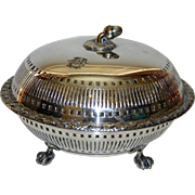 Elkington Covered Silverplate Bowl with Acorn Finial (1889)