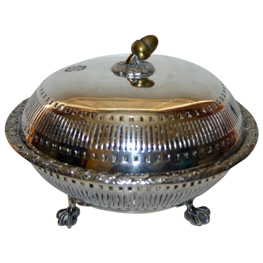 Pair Mixed Metals Antique Bowls by Elkington 1889