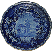 Historical Blue Adams Staffordshire Transferware Plate c. 1830