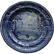 Historical Blue Plate, c. 1825, Blenheim Palace, Oxfordshire, Birthplace of Churchill